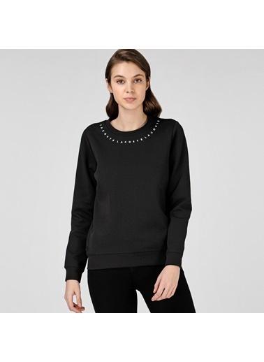 Lacoste Kadın Bisiklet Yaka Sweatshirt SF0115.15S Siyah